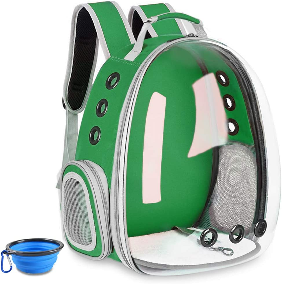 Aukor Cat Backpack Carriers Capsule Bubble Backpack Transparent Pet Cat Carrier Ventilated Airline Approved Travel Pet Backpacks for Cats Dogs