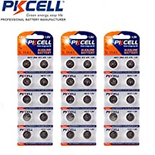 AG13 LR44 357 357A A76 145mAh Button Cell Watch Batteries 30 Pack