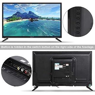 Cosiki WiFi Home TVBCL-32A/3216D 32-inch HD LCD TV 1366768 Supports USB HDMI RF Antenna Input 110-240V Black(Black)