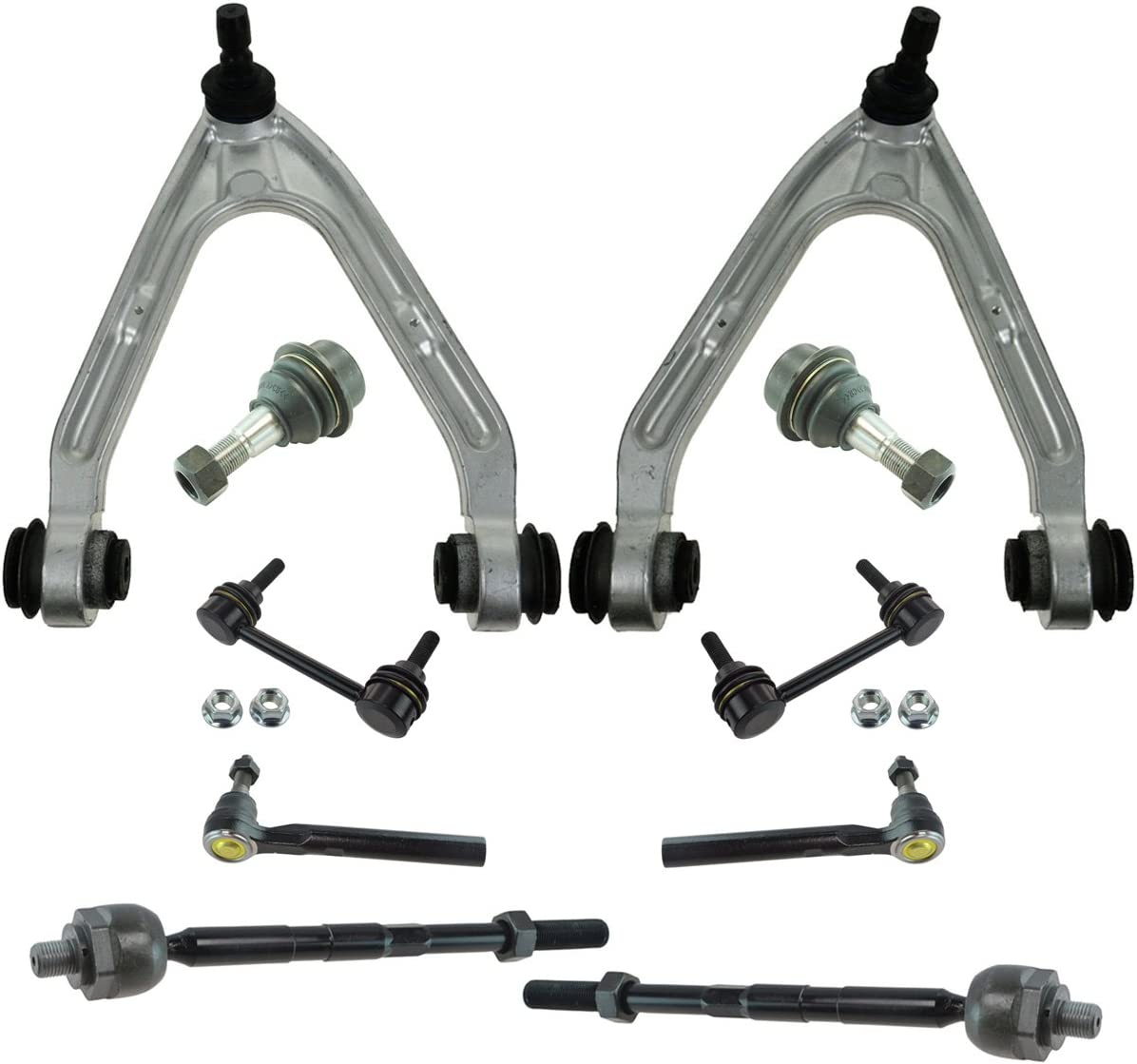 4 Piece Kit Front Outer Tie Rod End Lower Control Arm w// Ball Joint LH RH Set