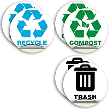 Waterproof Vinyl Recycle bin Vinyl Decal Stickers
