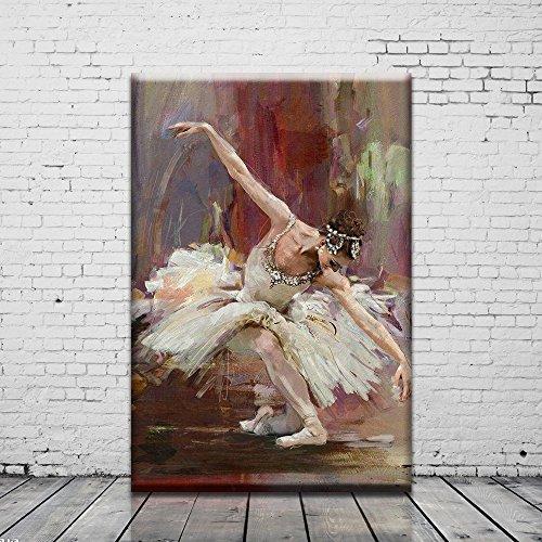 Unframed Oil Painting Printed Artwork Ballet Dancing Girl on the Canvas - Kid Art Dancing Girl
