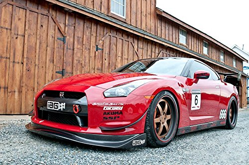 iJDMTOY (1) Sports Red Track Racing Style Aluminum Tow Hook For Nissan 350Z 370Z GT-R Juke Infiniti G37 Q50 Q60 QX60 QX70, etc