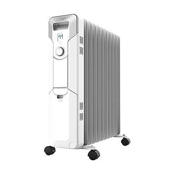 Cecotec Radiador de Aceite de 11 Módulos Ready Warm 5700 Space. 2500W, Bajo Consumo