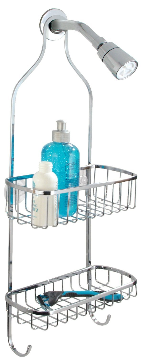 Amazon.com: InterDesign Gia Shower Caddy - Bathroom Storage Shelves ...