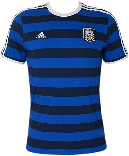 adidas Argentinien Messi 10 Trainings Shirt Tee blau gestreift AFA