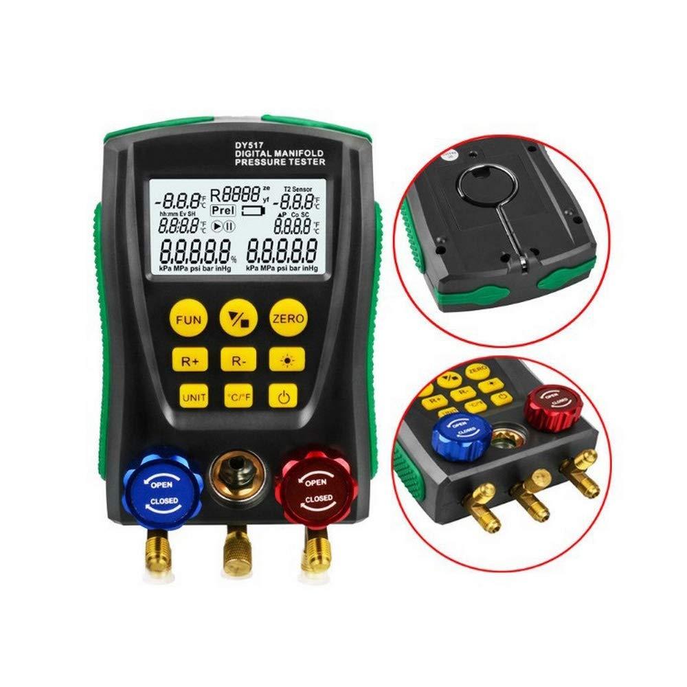 Refrigerantion Digital Manifold Gauge DY517 Pressure Gauge Digital Vacuum Pressure Manifold Tester Meter HVAC Temperature Tester