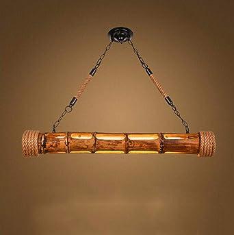 Lámpara de Techo Personaje Cuerda De Cañamo Bamboo Bar ...
