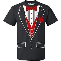 78f53c1c77b9 Promotion & Beyond P&B Tuxedo Red Rose Funny Men's T-Shirt. Promotion &  Beyond P&B Tuxedo Red Rose ...
