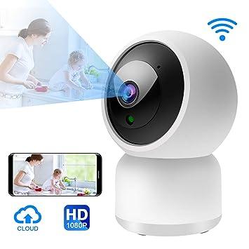 Cámara Vigilancia WiFi,Camara 1080P IP Interior Full HD P2P con Visión Nocturna, Detección de Movimiento, Audio de 2 Vías, Compatible con iOS/Android: ...