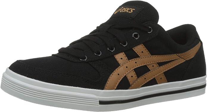 ASICS Aaron Sneaker Herren Schwarz mit braunen Streifen