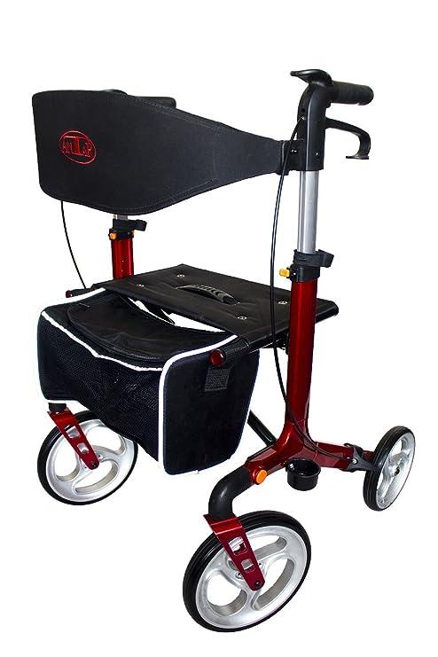 Aluminio Premium Andador Rojo at51111: Amazon.es: Salud y ...