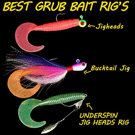"""Details about  /10ct ASSORTMENT 6/"""" Curly Tail GRUBS Bass Lures Swimming Grub Saltwater Baits"""