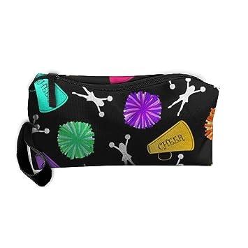 45f3094b2a79 Amazon.com : kjaoi Cosmetic Bag Bullhorns Pompoms Cheerleading Brush ...