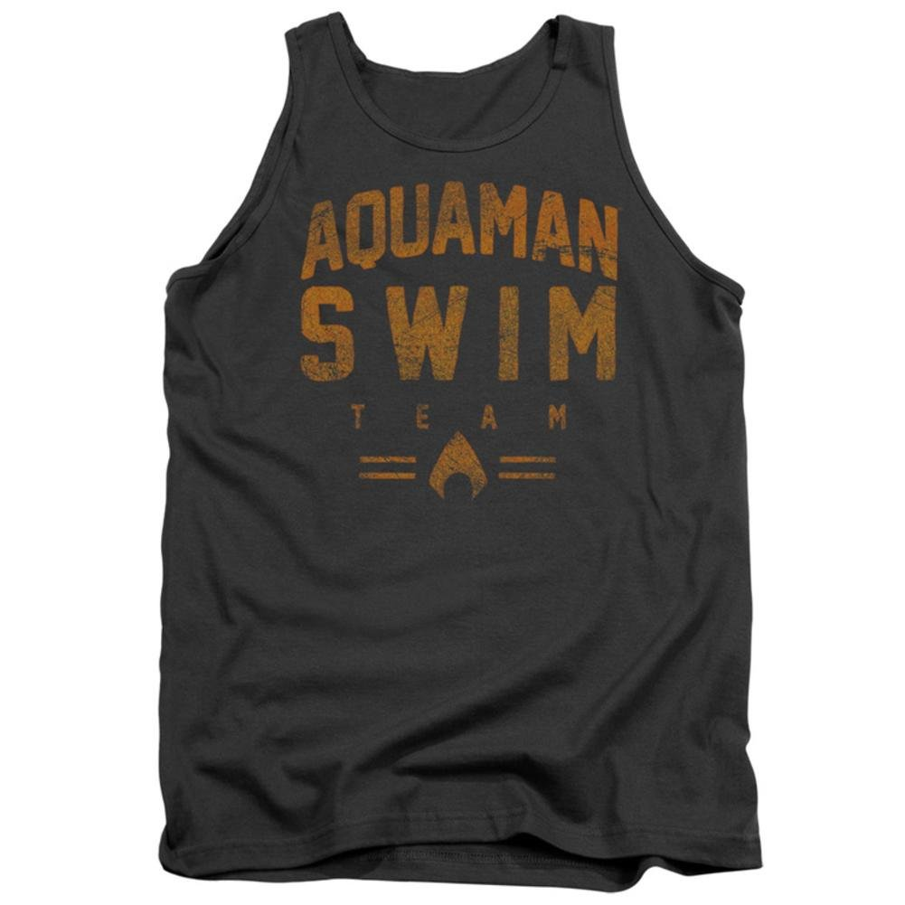 Justice League Swin Team Adult Tank Charcoal