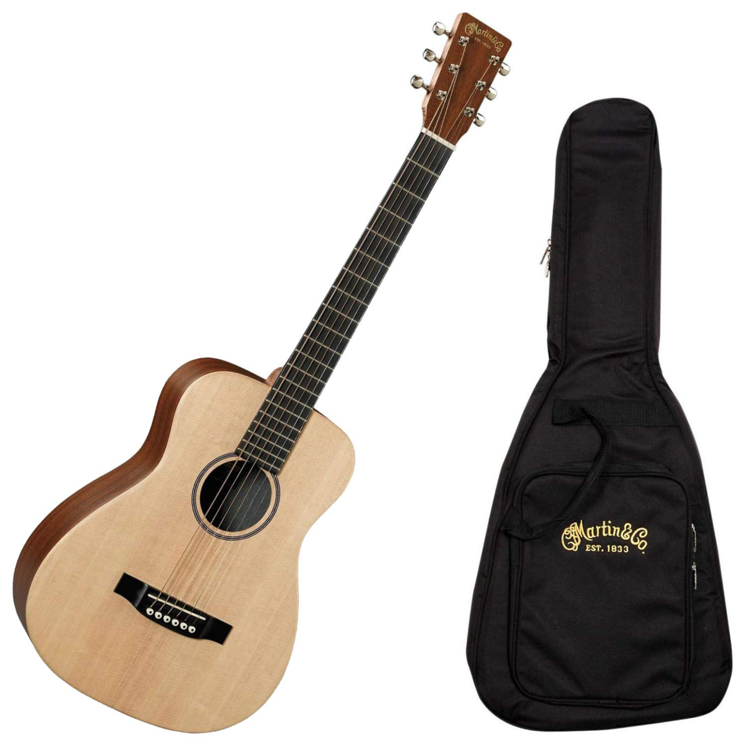 Martin LX1E Little Martin Solid Sitka Spruce/Mahogany HPL Acoustic/Electric w/Gig Bag by C.F. Martin & Co.