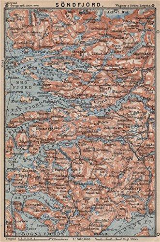 Amazoncom SOGN OG FJORDANE Sondfjord Söndfjord Floro Topomap - Norway map amazon