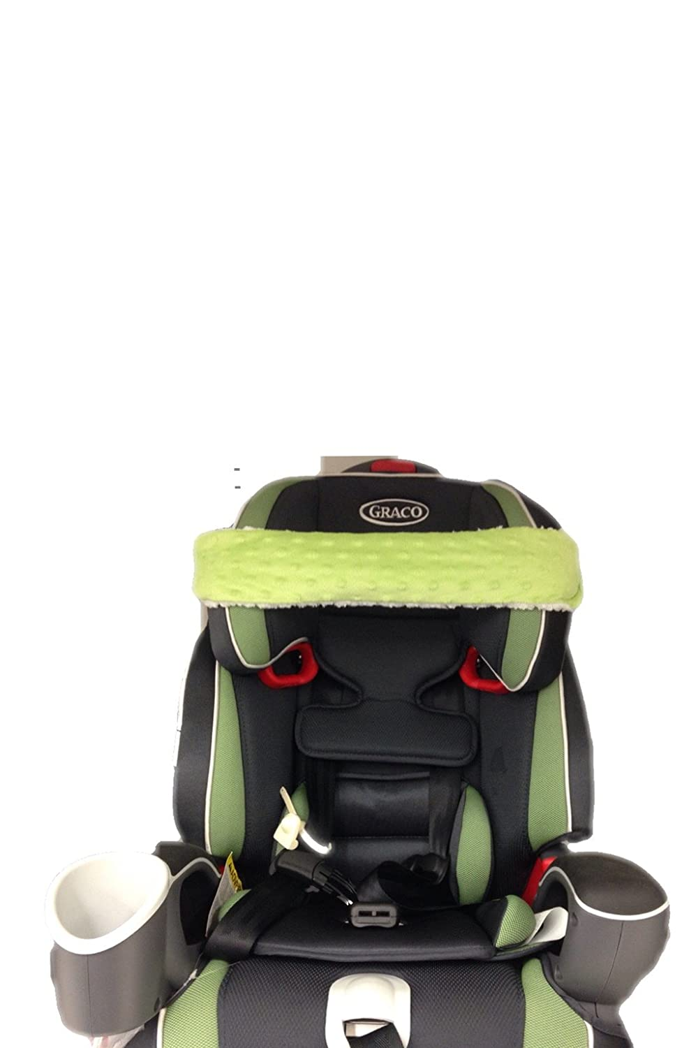 Nonods Car Seat Support Pillow Head Band (Green/white)