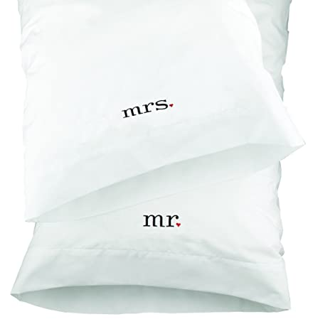 Hortense B Hewitt Wedding Accessories Together Mr And Mrs Pillowcases Set Of