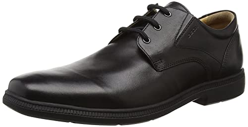 Geox J Federico M Black School Shoe 34