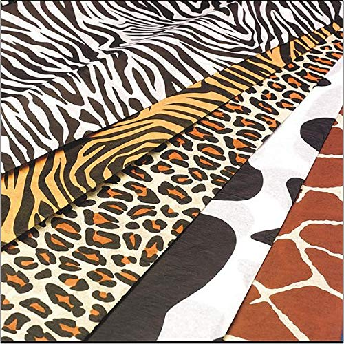 Animal Print Tissue Paper - Zebra, Tiger, Cheetah,