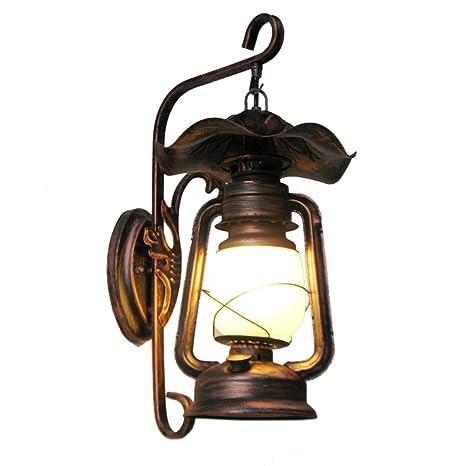 LED Luces de Pared Retro, Nostálgico, Lámparas de Pared Rústicas para Decorar Sala de