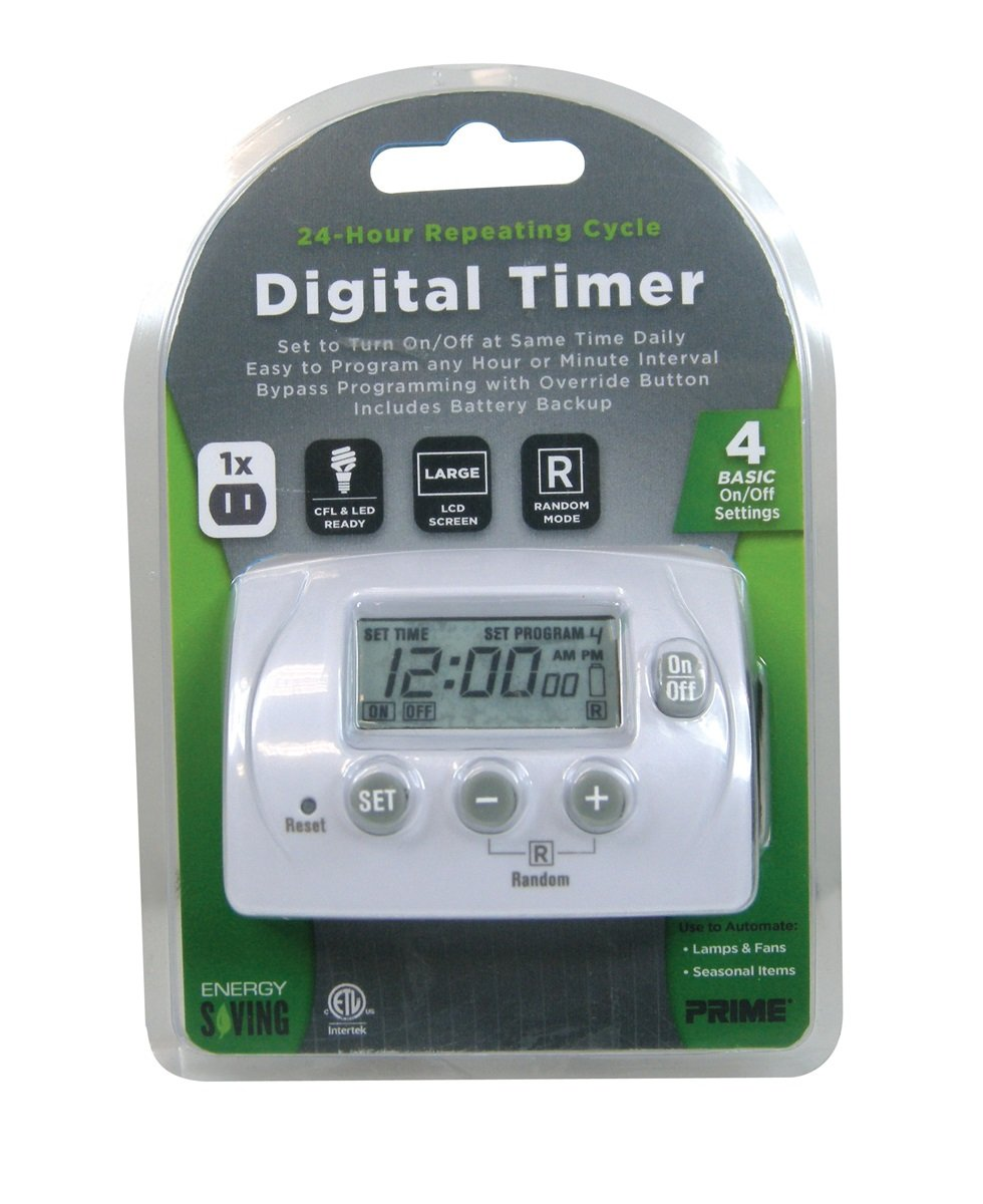 Prime Wire & Cable TNID7111 1-Outlet Digital 24 Hour Wall Tap with 4 Programs