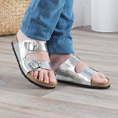 Coloris Mode En Sandale Été Femme Dorée Matériaux Cuir Et Fantaise Fabrication Naturel Chausspital Argent Espagnole Fantaisie wpUqSAaa