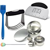 Baking & Pastry Utensils Set with Dough Blender, Pastry Scraper, Biscuit Cutter Set(12 PCS), Basting Brush and Cake Tester, All in One Package