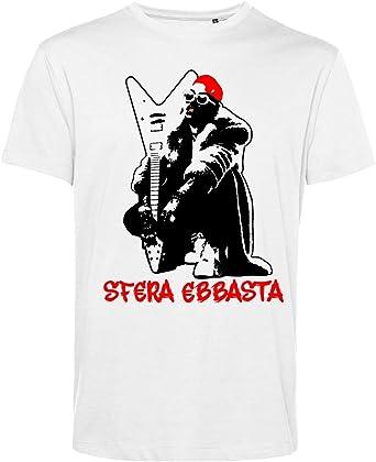 Art T-shirt, Camiseta Esfera Ebbasta Hombre: Amazon.es: Ropa y accesorios