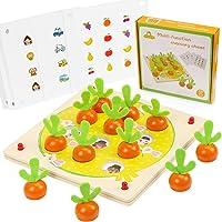 O-Kinee Juguetes Montessori, Juguetes Educativos, Memoria de Zanahoria, Rompecabezas Juegos de Madera, Zanahorias…