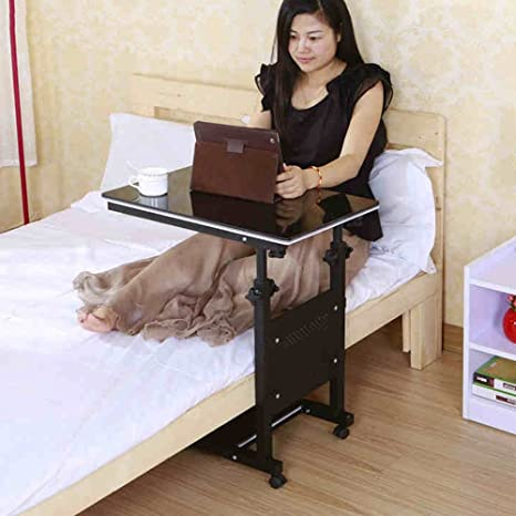 Amazon.com - XIAOLIN table Desktop Laptop Table Folding Table Lazy Bed Desk Household Fold Mobile Bed Side Table Mobile Computer Lounger Table Bed Computer ...
