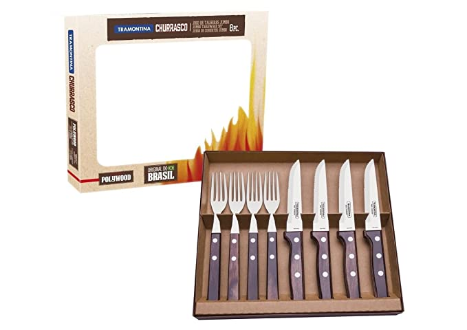 Tramontina Churrasco Jumbo - Juego de cuchillos de cocina (8 ...