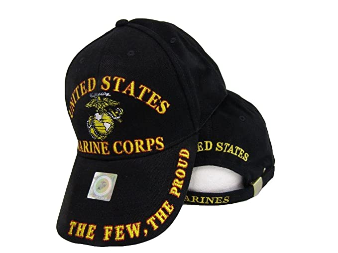 671b79927a508 Image Unavailable. Image not available for. Color  AES USMC EGA The Few The Proud  Red Gold Letters Marines Marine Embroidered Cap Hat
