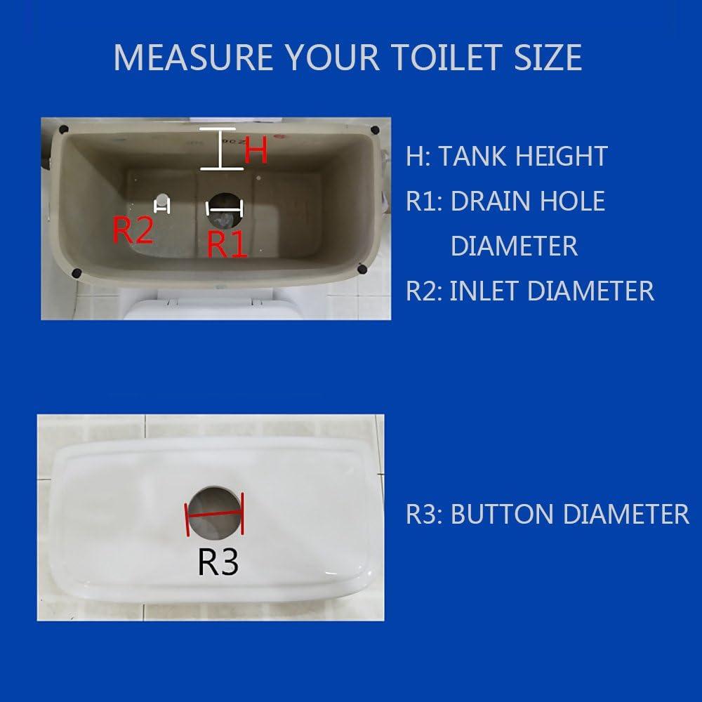 HuntGold blanco WC cisterna Dual Flush pulsador V/álvula de descarga sif/ón v/álvula de llenado Altura 24/cm apta para altura del tanque 24/ no incluye tanque tapa /29/cm