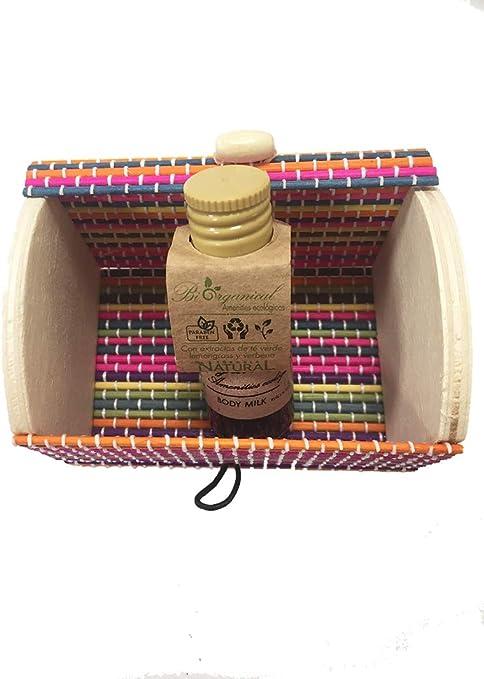 Baúl de colores con miniatura de bodymilk Ecológico
