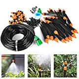 Drip Irrigation Kit- 82FT Irrigation Pipe, Irrigation Spray , Complete Irrigation Parts,Perfect Irrigation Systems for Flower Bed, Patio, Garden Greenhouse Plants