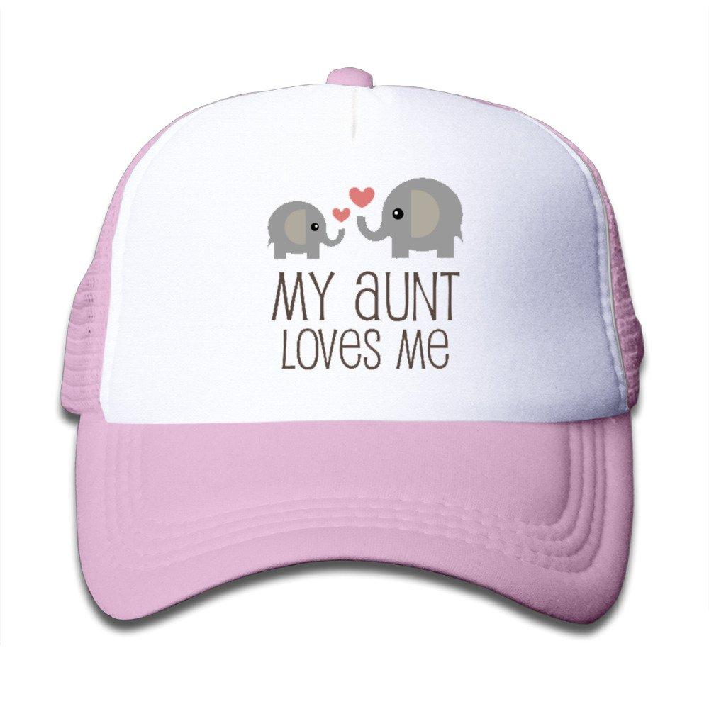 Kids My Aunt Loves Me Trucker Hats,Youth Mesh Caps,snapback Baseball Cap Hat