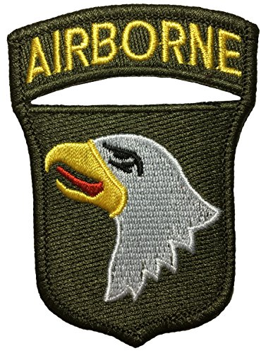 (Papapatch 101st Airborne Screaming Eagle Shoulder Sign Badge Costume DIY Applique Embroidered Sew on Iron on Patch - Olive Drab)