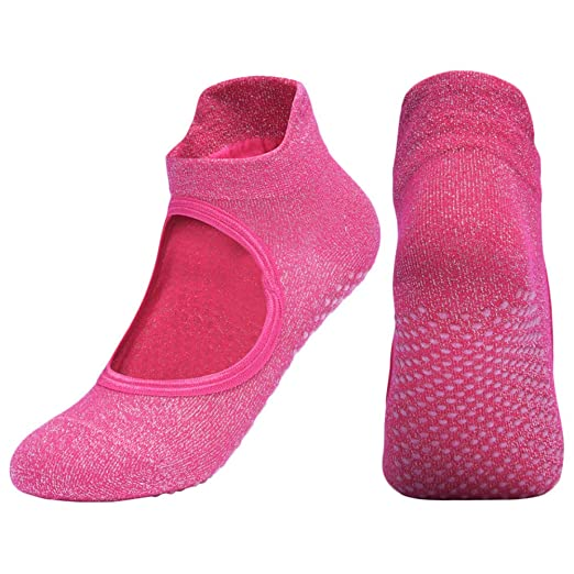 Amazon.com : LUNA Yoga Socks Barre Socks with Grips for ...