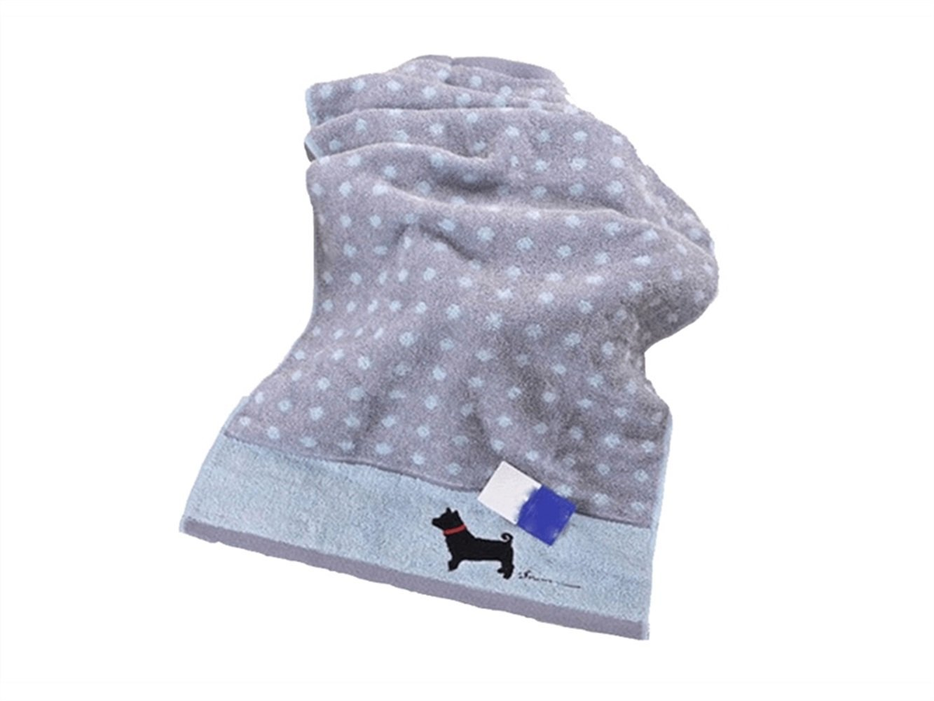 Wesource Activates Cartoon Dog Cotton Kid Wash Face Towel Couple Towel Wiping Hands Square Towel(Grey)