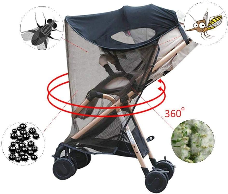 Kinderwagen und Autositz breiter Sonnenschutz UV-Schutz universell und einfach zu montierendes 0-3 Jahre altes BB-Auto ZLMI Neuer Sonnenschutz//Sonnenschutz f/ür Kinderwagen
