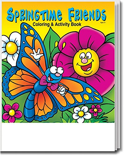 - Springtime Friends Kid's Coloring & Activity Books in Bulk (25 Pack)
