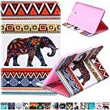 Tab E 9.6 Case-Ucover(TM) Bright Colorful Folio Soft Shell Fashion Design Pattern Smart Stand Magnetic Exclusive for (Samsung Galaxy Tab E 9.6 SM-T560/SM-T561) (Baby Elephant)