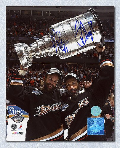 Autographed Scott & Rob Niedermayer Anaheim Ducks Dual Signed Stanley