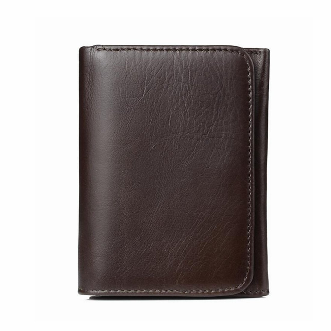 Color : Light Brown KRPENRIO Mens RFID Blocking Soft Leather Wallet Multi Card Holder Bifold Wallet Business Wallet