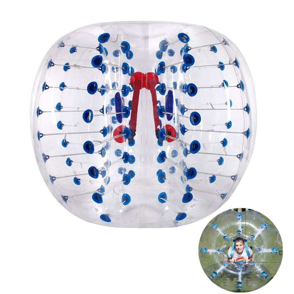 alta calidad general 1.5M Transparente Transparente Transparente Punto Azul Bola Inflable De Burbuja Bola De Fútbol De Parachoques De Zorb del Golpeador Humano Material De PVC Lavable Reutilizable para Adultos Y Niños,1M  oferta de tienda