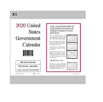 Amazon.com: 2020 Unicor US Government Wall Calendar, Single ...