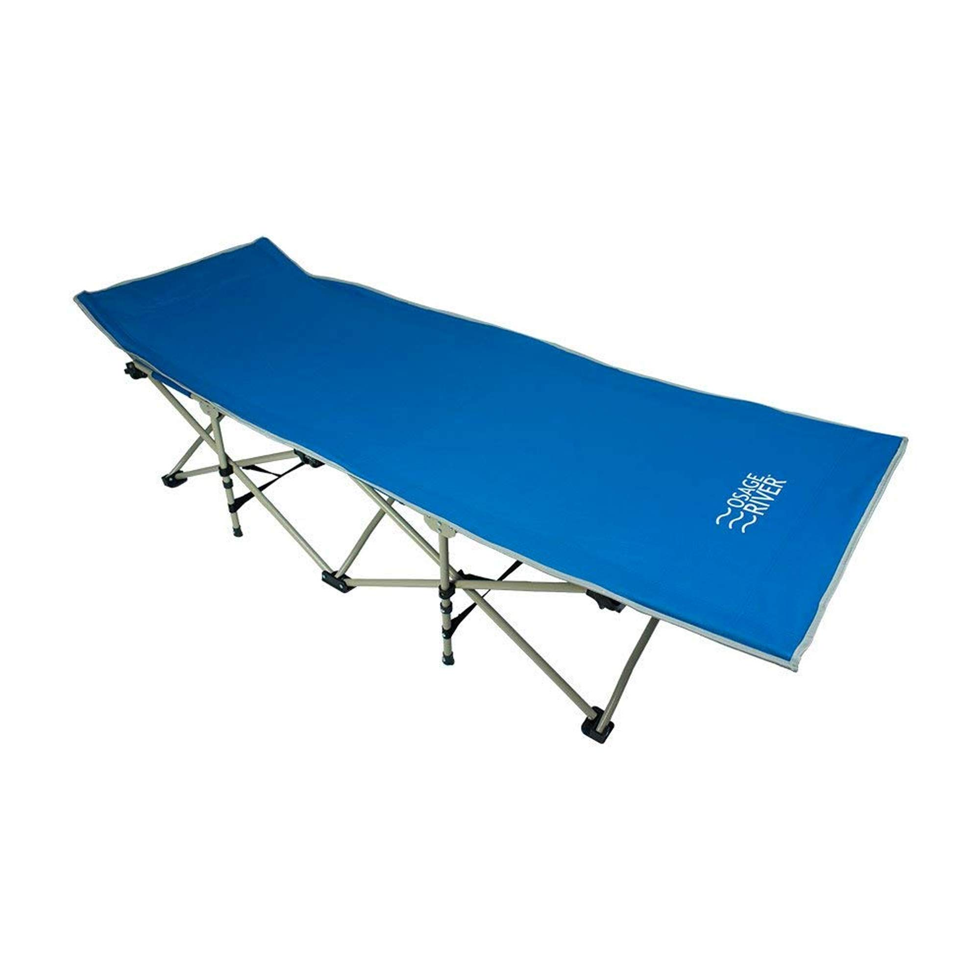 OSAGE RIVER Folding Camping Cot with Carry Bag, Portable and Lightweight Bed for Adults or Kids, Blue by OSAGE RIVER