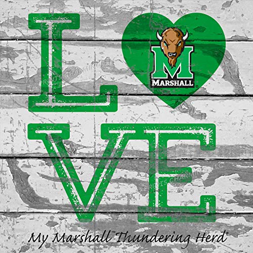 Prints Charming College Love My Team Logo Square Marshall Thundering Herd Unframed Poster 13x13 -